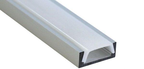 Профиль для светодиодной ленты 16х6 мм встраиваемого и накладного монтажа, алюминиевый, с рассеивателем, длиной 2 м. 1