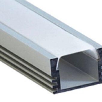 Профиль Smartbuy накладной алюминий + рассеиватель поликарбонат 2 метра