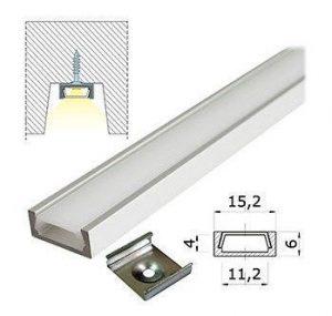 Узкий алюминиевый профиль для светодиодной ленты короб 16х6 мм купить в минске