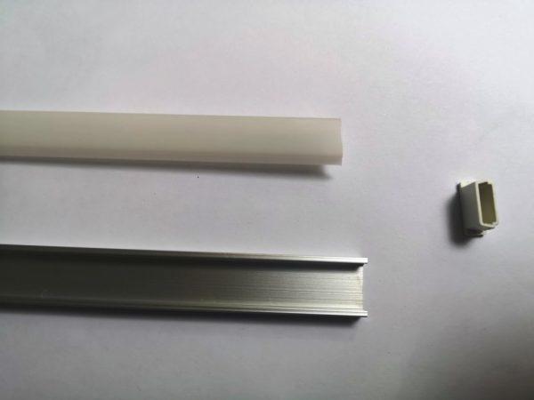 Купить профиль алюминиевый для светодиодной ленты 16*6