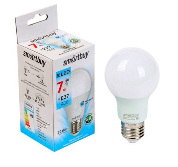 Светодиодная (LED) Лампа Smartbuy A60 E27 2