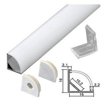 Угловой профиль Smartbuy для светодиодной ленты, накладной, алюминиевый, с рассеивателем, 2 м. 1