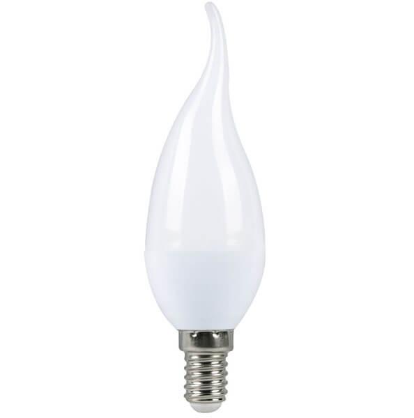 Светодиодная (LED) Свеча на ветру матовая Лампа Smartbuy-C37-E14