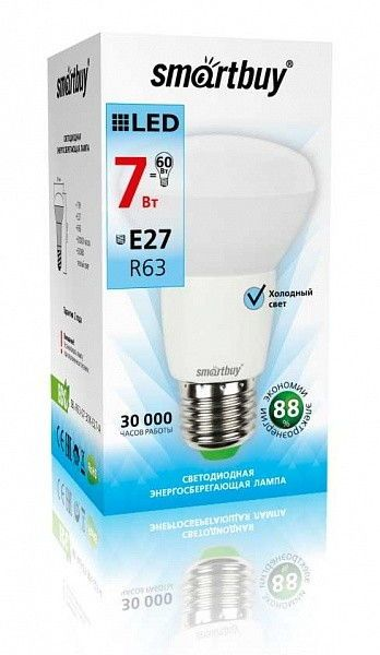 Светодиодная (LED) Лампа Smartbuy-R63-E27 3