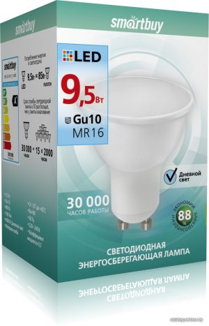 Лампа GU 10 в колбе mr16 мощностью 9,5 ватт