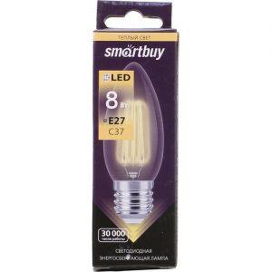 Светодиодная (LED) лампа Smartbuy C37 Filament E27