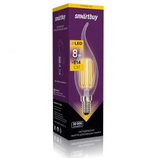 Светодиодная (LED) Лампа свеча на ветру FIL Smartbuy Е14 2