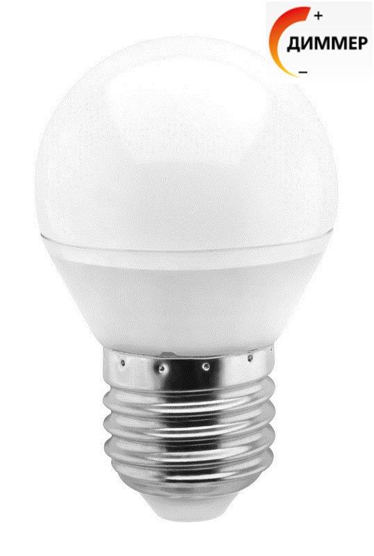 Светодиодная (LED) лампа Smartbuy G45 7W Диммируемая E27 1