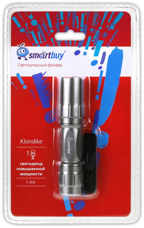 Светодиодный алюминиевый фонарь 0,5W Smartbuy, серебристый 3