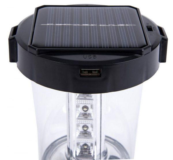 Аккумуляторный кемпинговый фонарь с солнечной батареей Smartbuy 1 Вт+17 LED 2