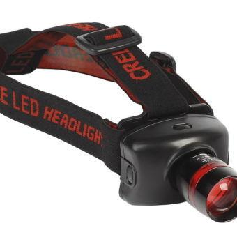 Налобный фонарь 3Вт c оптическим зумом , черный