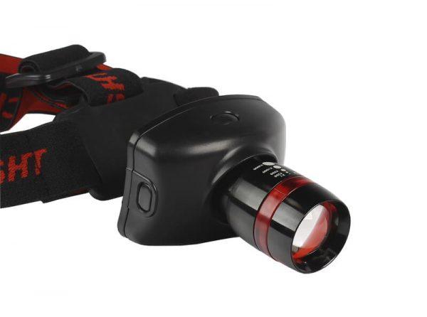 Налобный фонарь 3Вт c оптическим зумом , черный 3