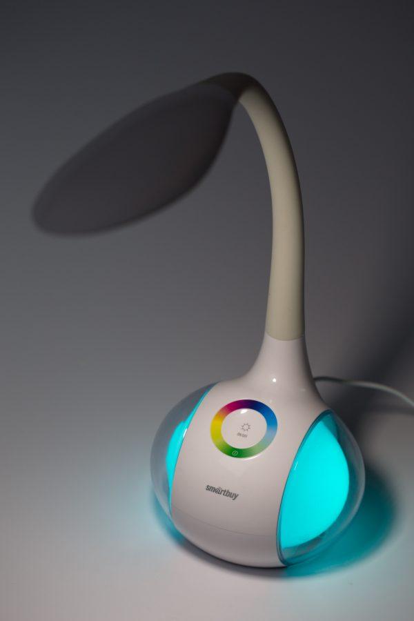 Светодиодный настольный светильник Smartbuy-6W Диммируемый RGB 10