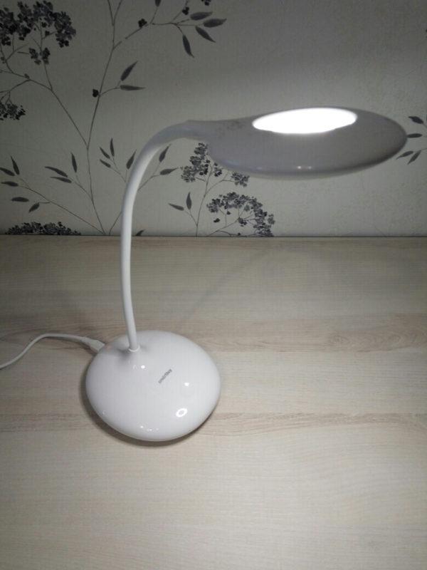 Светодиодный диммируемый настольный светильник Smartbuy SBL-CR-5-W-White 4