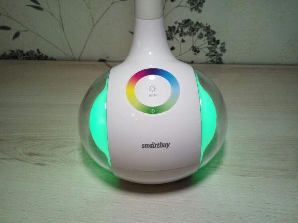 Светодиодный настольный светильник Smartbuy-6W Диммируемый RGB 7