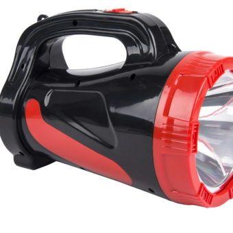 Аккумуляторный фонарь-прожектор 5W, черный