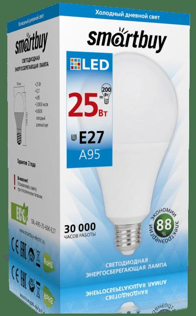 Светодиодная (LED) Лампа Smartbuy A95 25W 28W E27 1