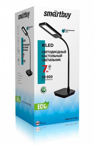 Светодиодный настольный светильник Smartbuy-7W/NW/3-S Диммируемый, Черный 3