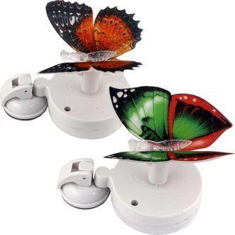 """Светильник с солнечной батареей Camelion SG-110 """"Бабочки на окно"""" (1 Led), 2 шт. в комплекте"""