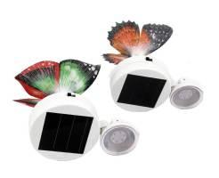 """Светильник с солнечной батареей Camelion SG-110 """"Бабочки на окно"""" (1 Led), 2 шт. в комплекте 1"""