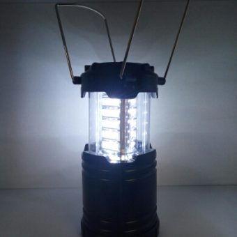 Кемпинговый фонарь складной 30 SMD, черный