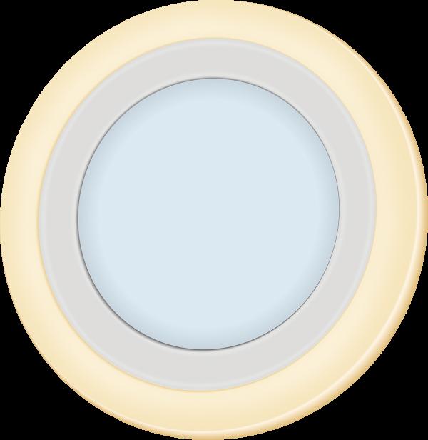 Светильник светодиодный с декоративной подсветкой круглый truEnergy, 4000K