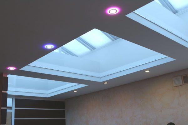 Ультратонкие LED панели круглые truEnergy с декоративной подсветкой 7