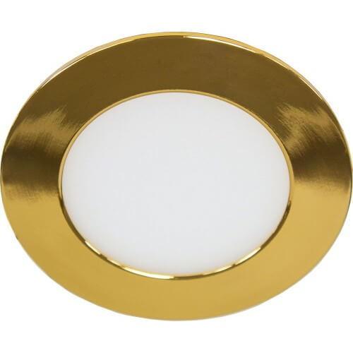 Светильник светодиодный круглый truEnergy, 4000К цвет золото