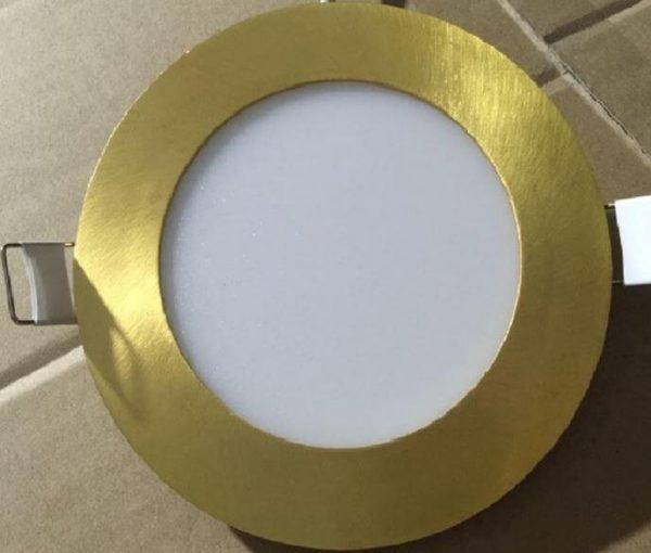 Ультратонкие LED панели круглые truEnergy, цвет золото 1
