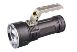 Аккумуляторный светодиодный фонарь CREE T6 10W с системой фок-ки луча, металлический с ручкой, IP54