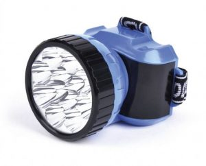 Аккумуляторный налобный фонарь LED, синий