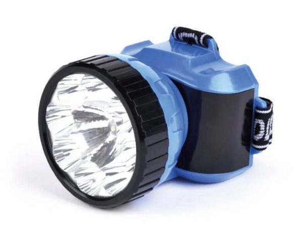 Аккумуляторный налобный фонарь LED, синий 3