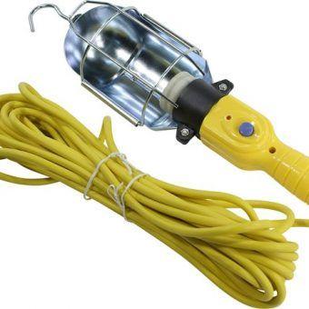Светильник переноска, цоколь Е27, с проводом и неодимовым магнитом