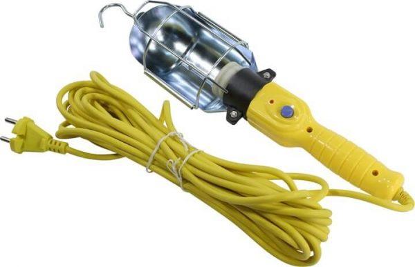 Светильник переноска, цоколь Е27, с проводом и неодимовым магнитом (SBF-CL-E27)/20
