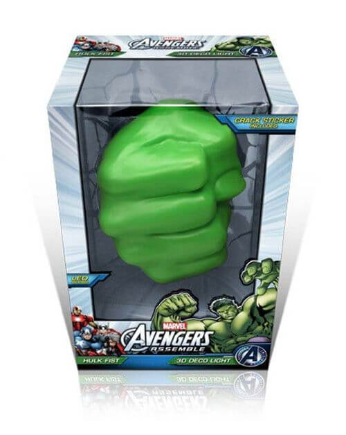 Светильник 3D Hulk Fist