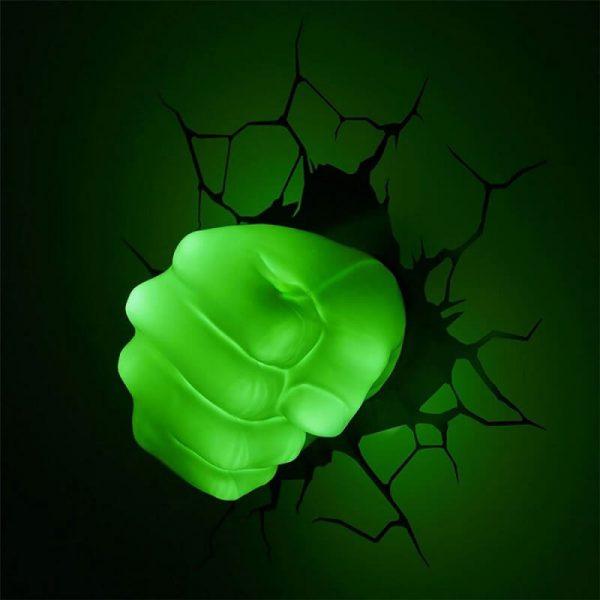 Светильник 3D Hulk Fist 1
