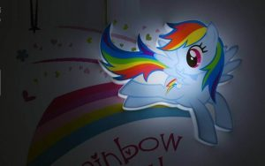 Светильник 3D MLP Mini Rainbow Dash