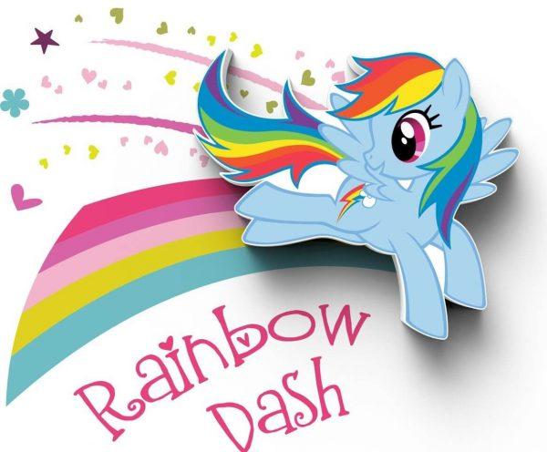 Светильник 3D MLP Mini Rainbow Dash