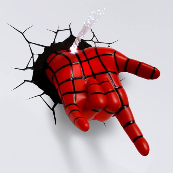 Светильник 3D Spiderman Hand