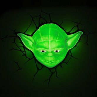 Светильник 3D Star Wars Yoda Face