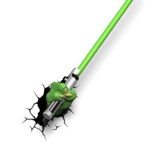 Светильник 3D звездные войны Star Wars меч йоды Yoda Saber