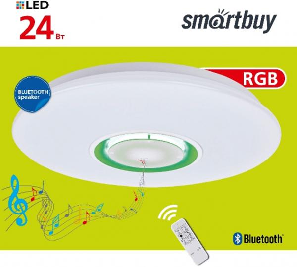 Светодиодный потолочный светильник (LED) Smartbuy Bluetooth, 12-24 Вт, 4K 3
