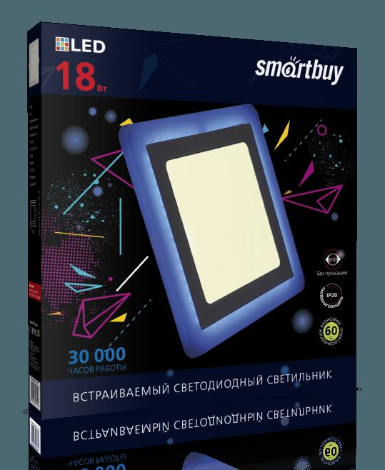 Светодиодная (LED) панель с подсветкой квадратная DLB Smartbuy 2
