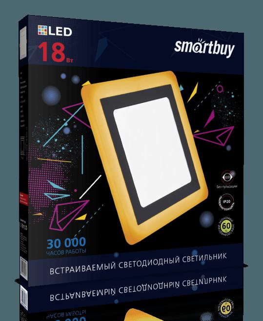 Светодиодная (LED) панель с подсветкой квадратная DLB Smartbuy 4