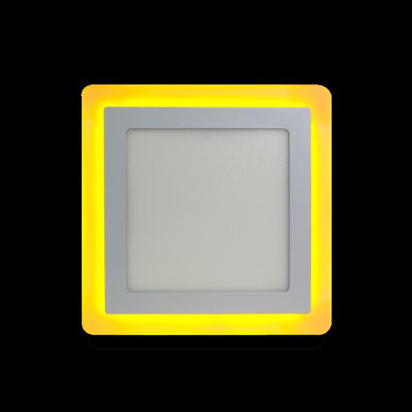 Накладной (LED) светильник квадрат с подсветкой DLB Smartbuy 3