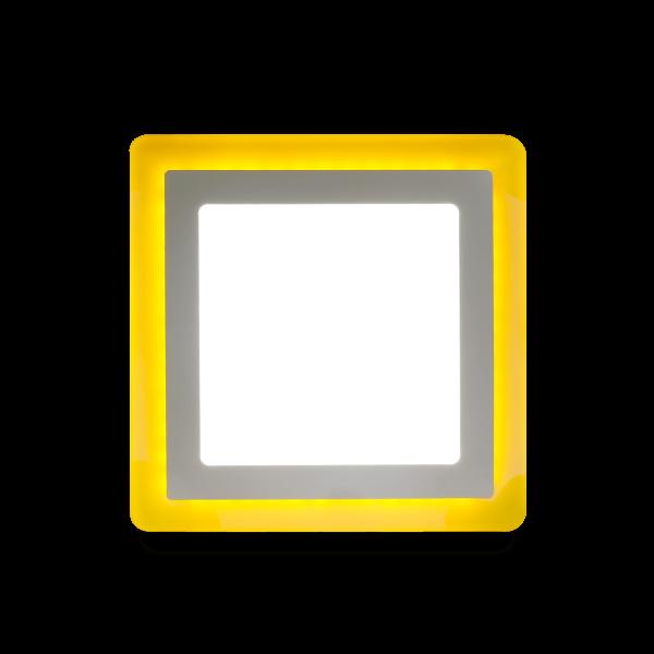 Накладной (LED) светильник квадрат с подсветкой DLB Smartbuy 2