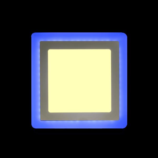 Накладной (LED) светильник квадрат с подсветкой DLB Smartbuy 7