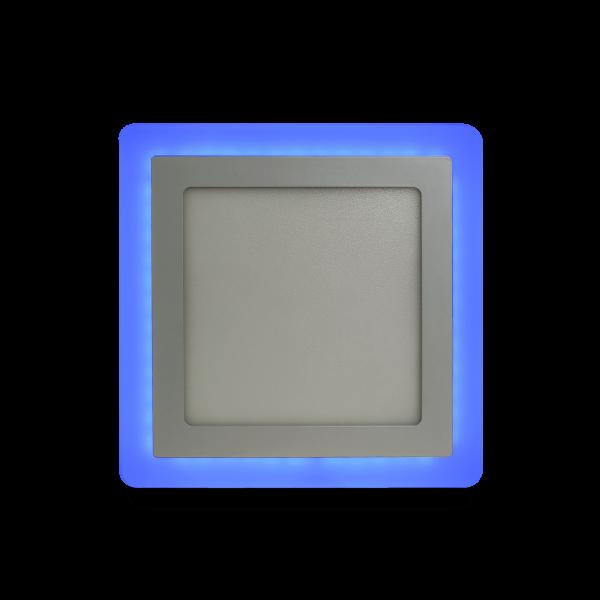 Накладной (LED) светильник квадрат с подсветкой DLB Smartbuy 4