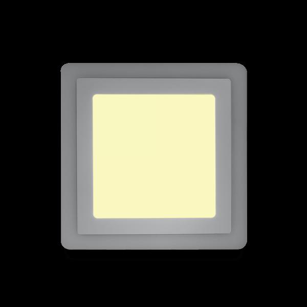 Накладной (LED) светильник квадрат с подсветкой DLB Smartbuy 1