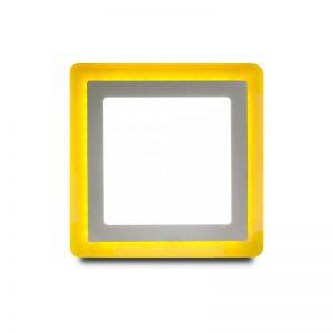 Накладной (LED) светильник квадрат с подсветкой DLB Smartbuy